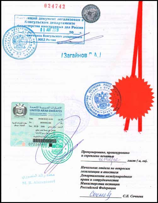 консульская легализация документов