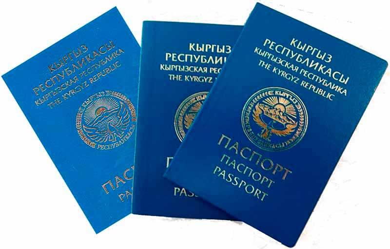 Киргизский паспорт. Перевод.