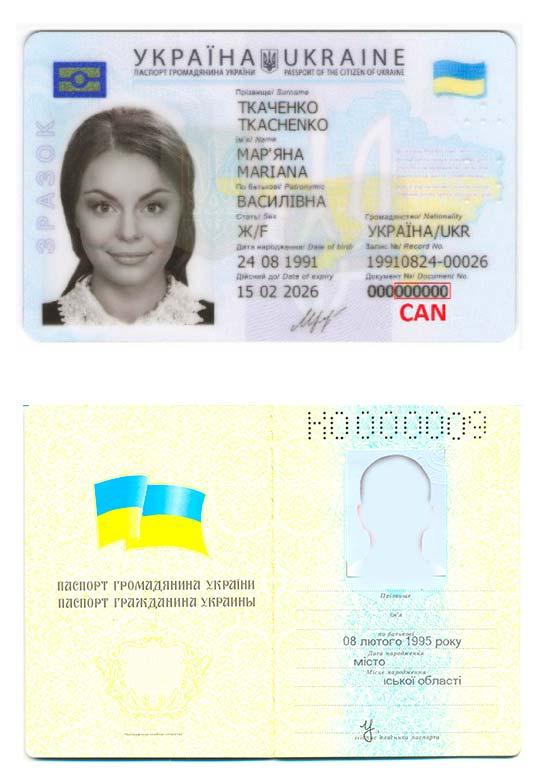 Перевод украинского внутреннего паспорта